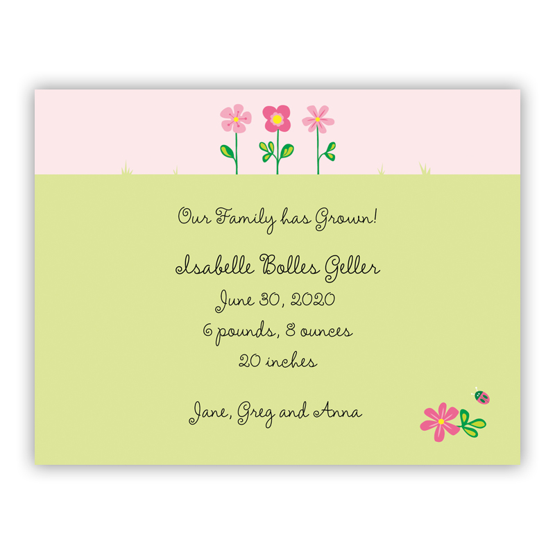 Garden Small Flat Invitation or Announcement