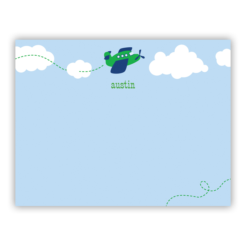 Airplane Small Flat Stationery Note