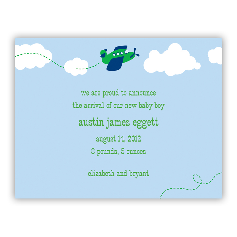 Airplane Small Flat Invitation or Announcement