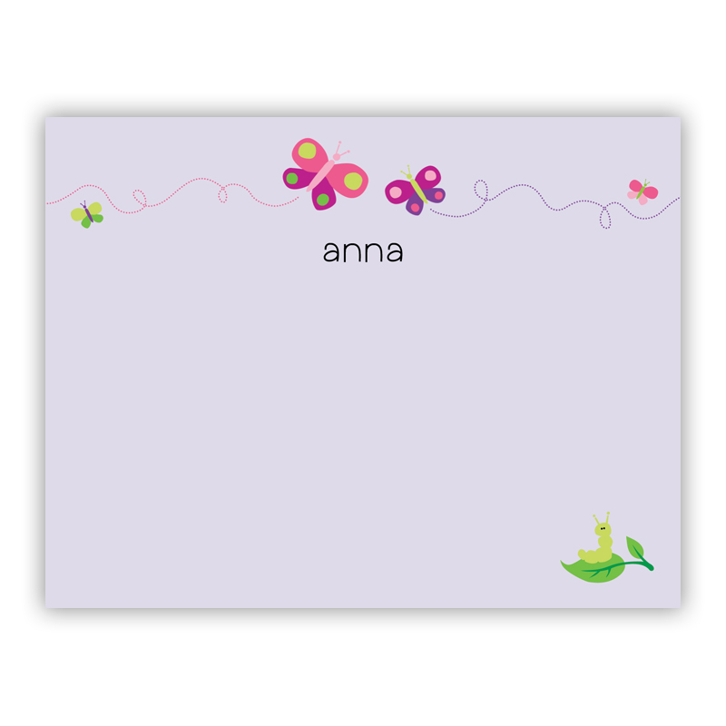 Butterfly Small Flat Stationery Note