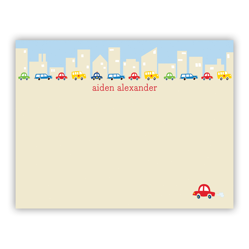 Cars Small Flat Stationery Note