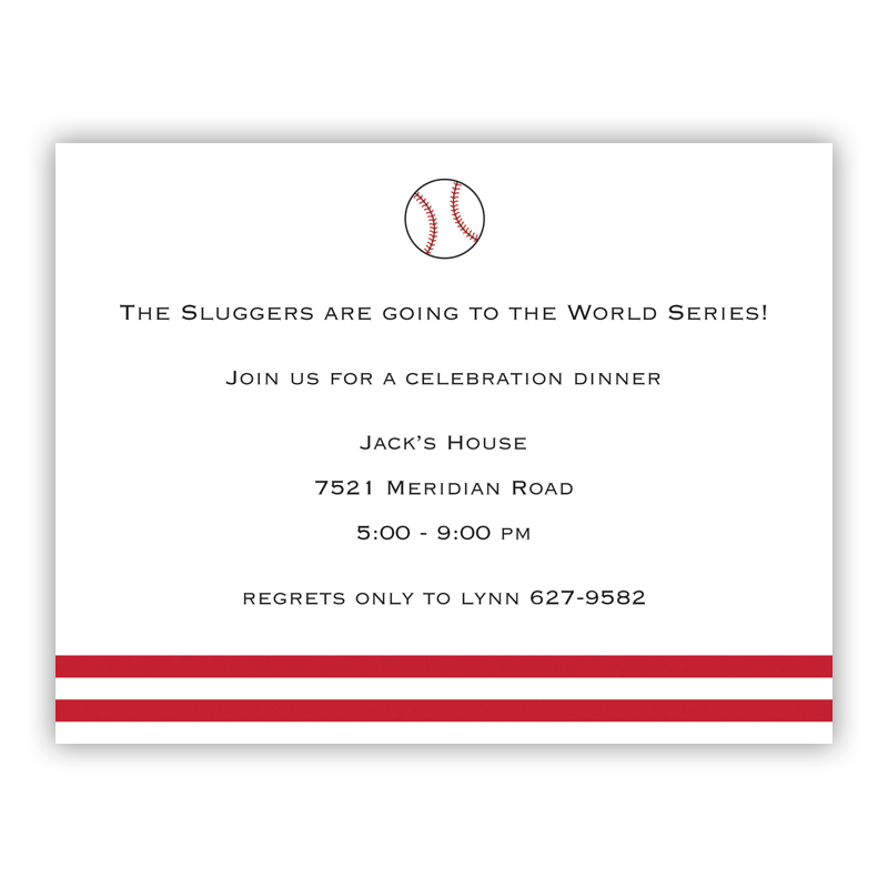 Baseball Small Flat Invitation or Announcement