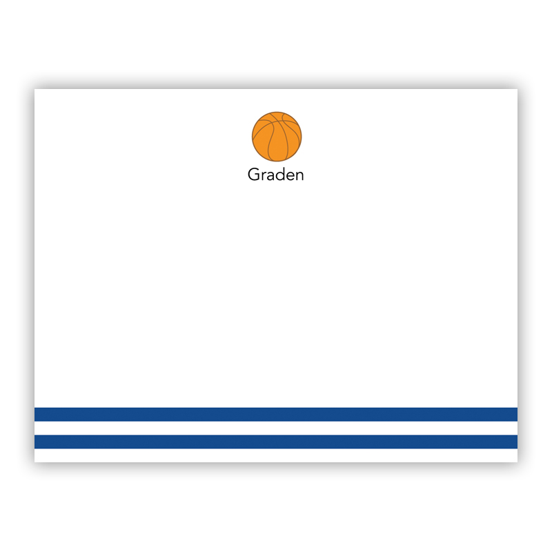 Basketball Small Flat Stationery Note
