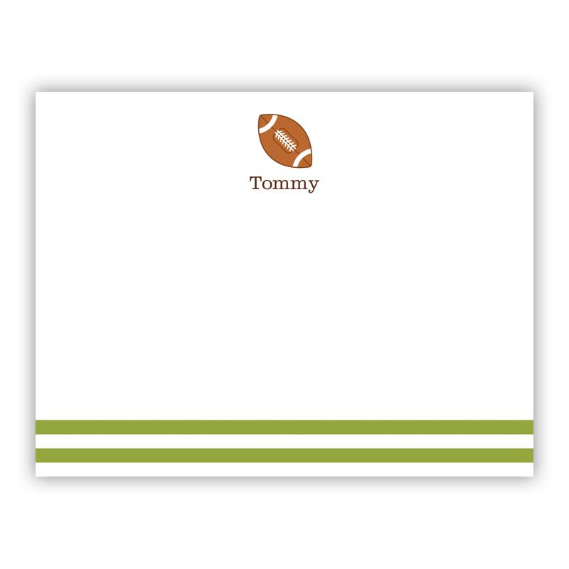 Football Small Flat Stationery Note