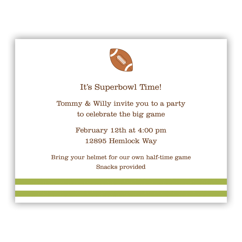 Football Small Flat Invitation or Announcement