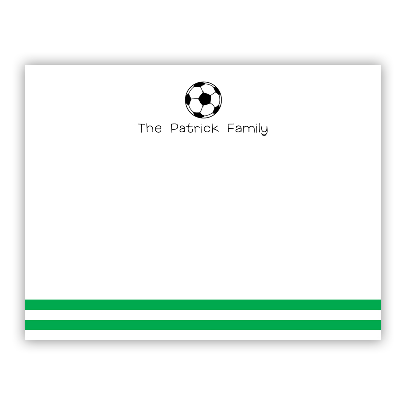 Soccer Small Flat Stationery Note