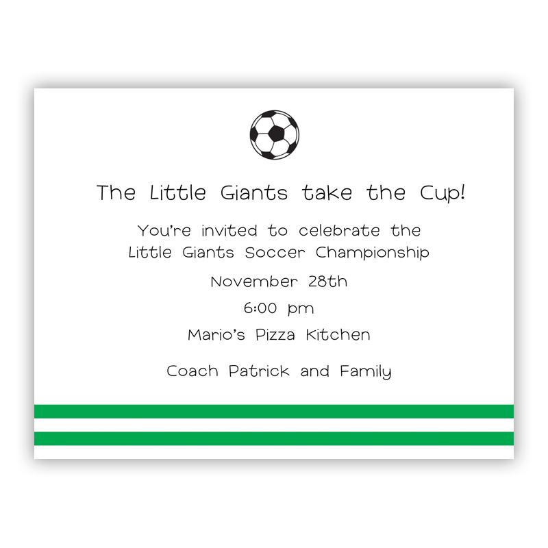 Soccer Small Flat Invitation or Announcement