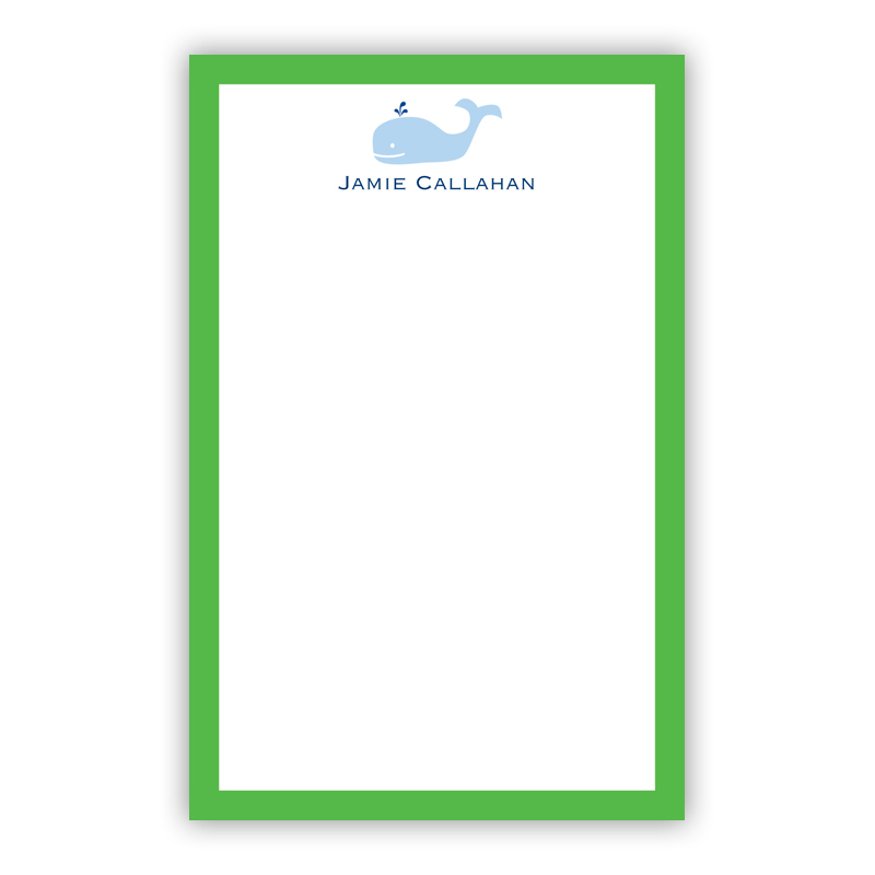 Personalized Whale Notepad (100 sheets)