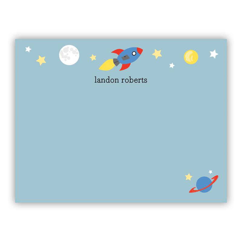 Space Small Flat Stationery Note