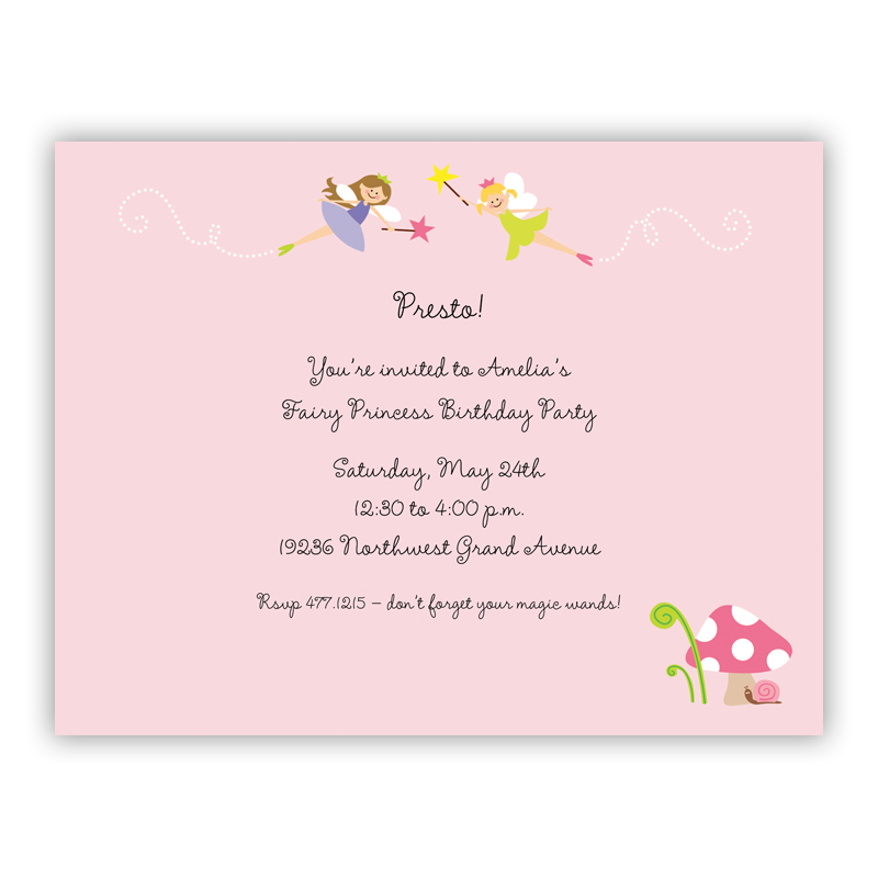 Fairy, Customized Small Flat Invitation or Announcement