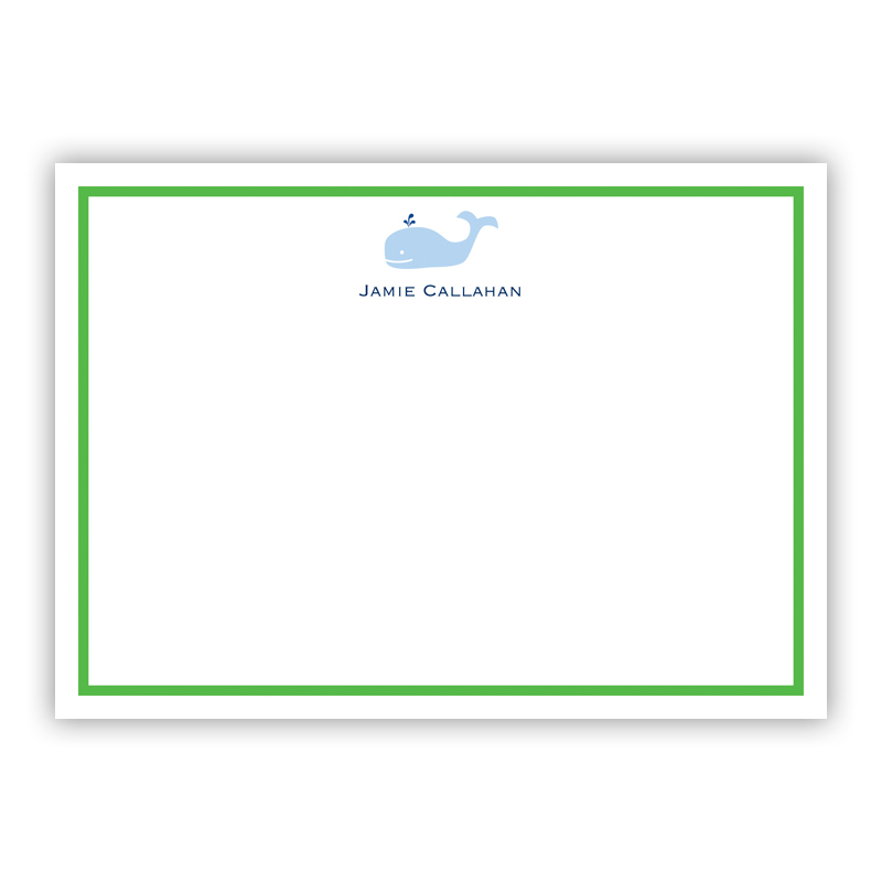 Whale Flat Stationery, 25 Notecards