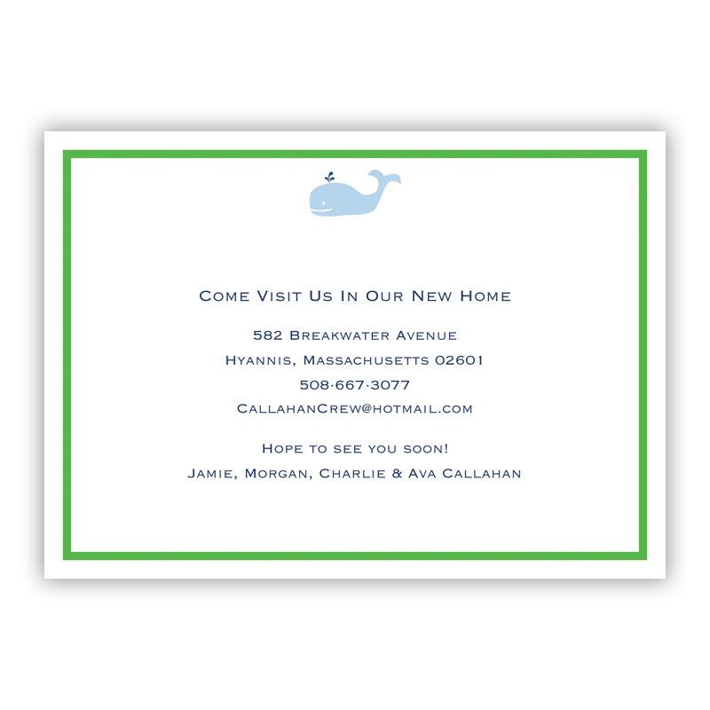 Whale Invitation or Announcement, sets of 25
