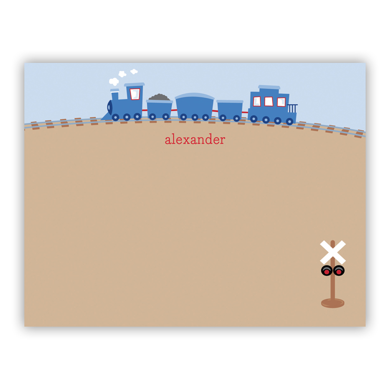 Train Small Flat Stationery Note