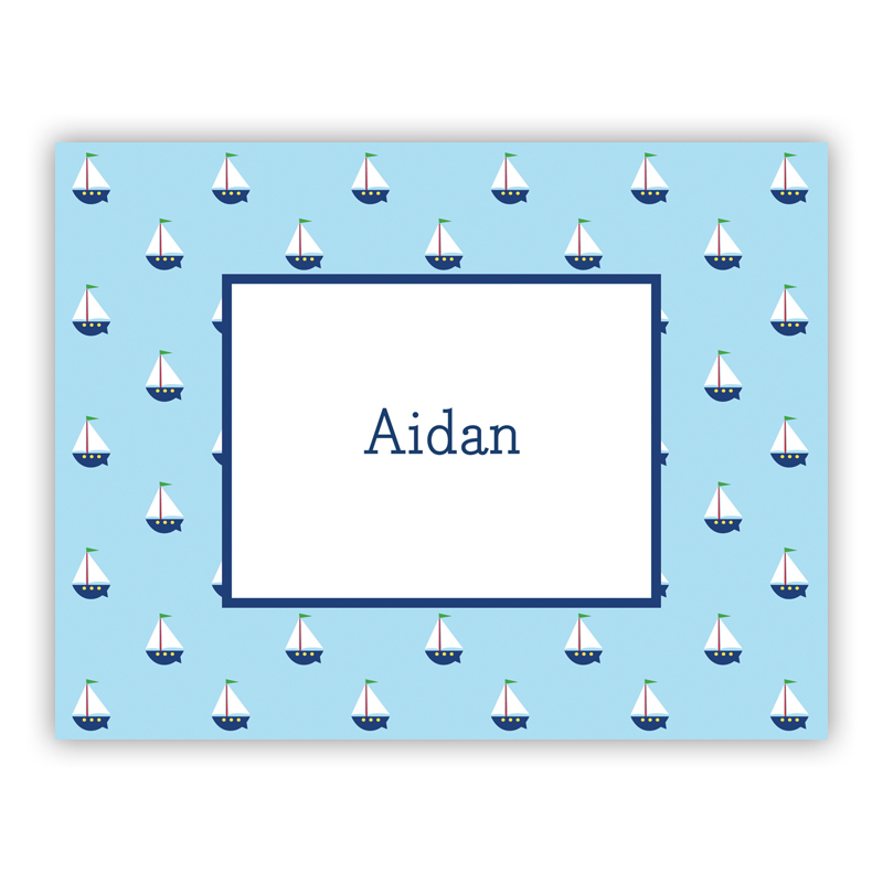 Little Sailboat Stationery, 25 Foldover Notecards