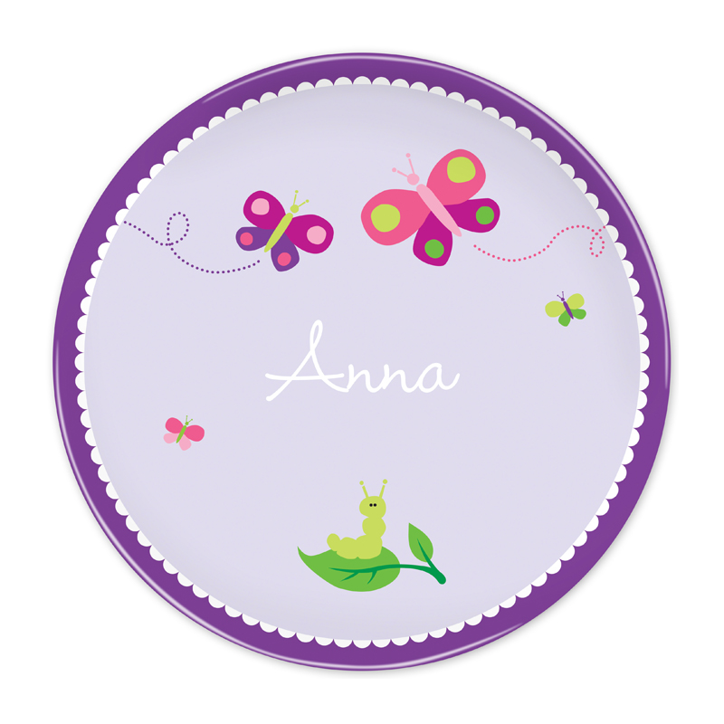 Personalized Butterfly 10 inch Plate