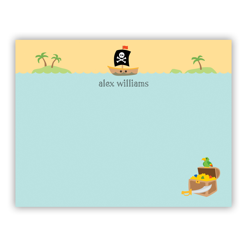 Pirate Small Flat Stationery Note
