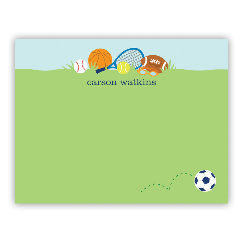 Sports Boy Small Flat Stationery Note