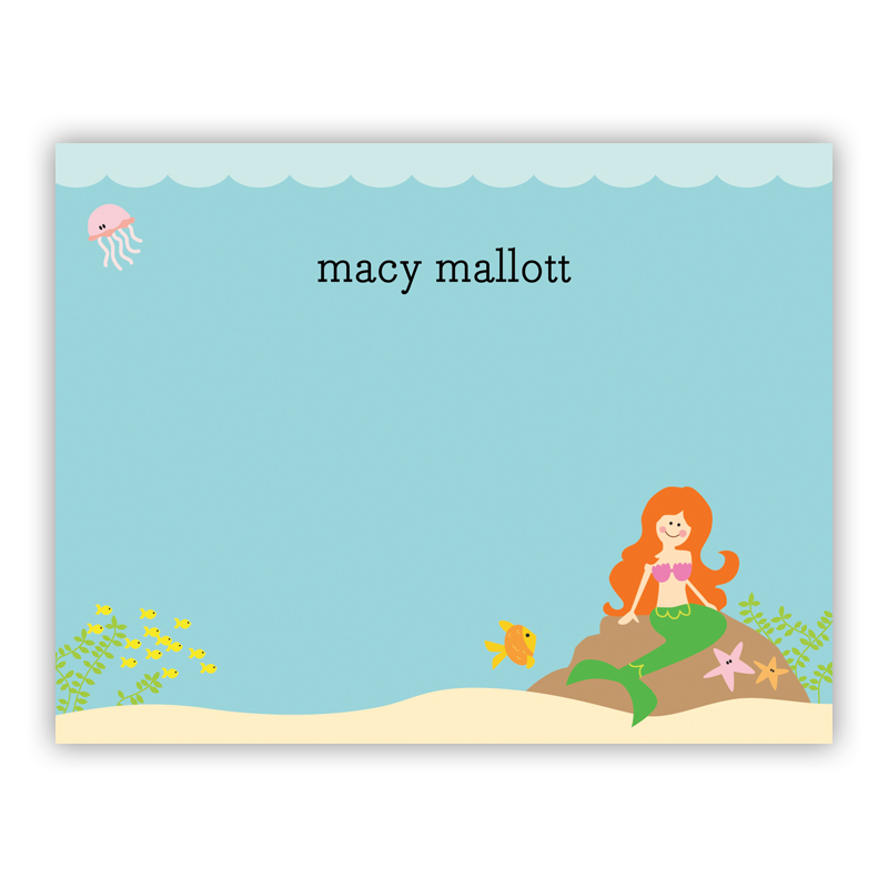 Mermaid, Customized Small Flat Stationery Note