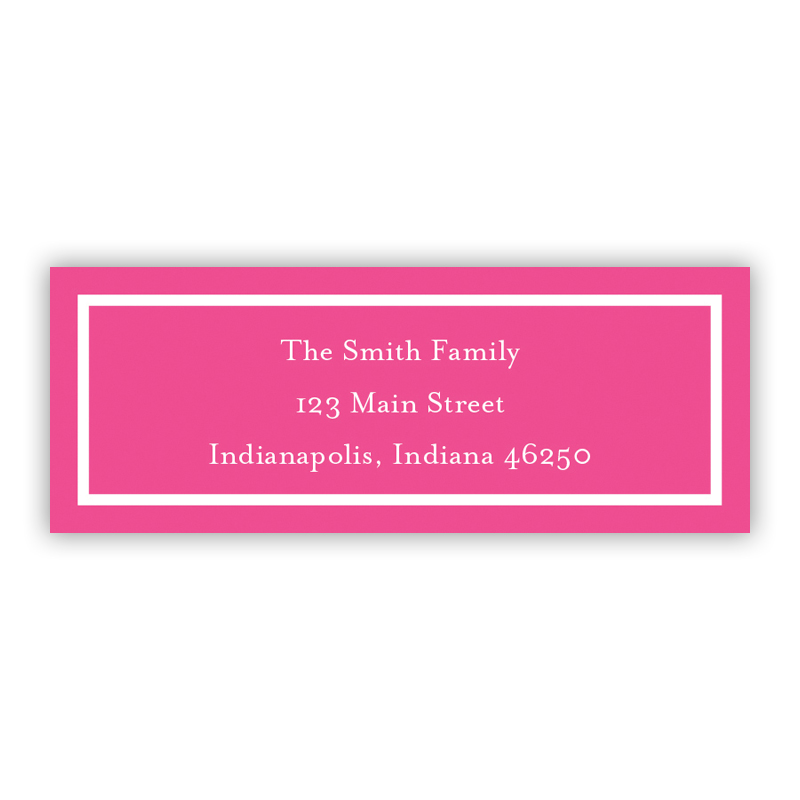 Classic Raspberry Return Address Label, 90 labels