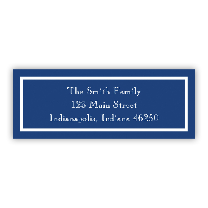 Classic Navy Return Address Label, 90 labels