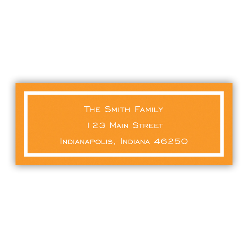 Classic Tangerine Return Address Label, 90 labels