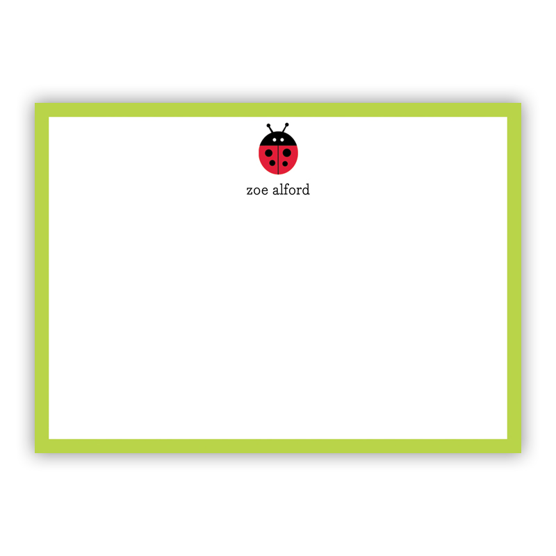 Ladybug Flat Stationery, 25 Notecards