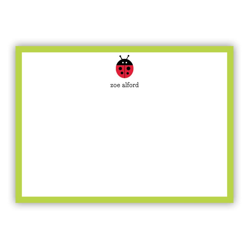 Ladybug Flat Stationery, 25 Notecards