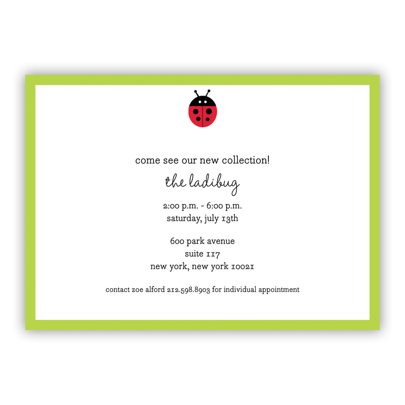 Ladybug  Invitation or Announcement, sets of 25