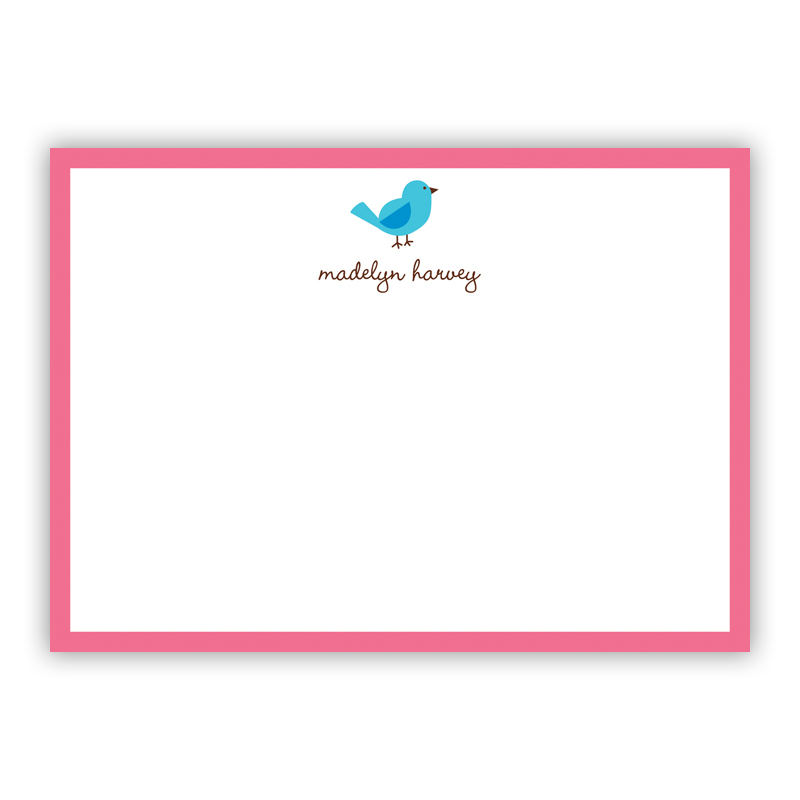 Birdie Flat Stationery, 25 Notecards