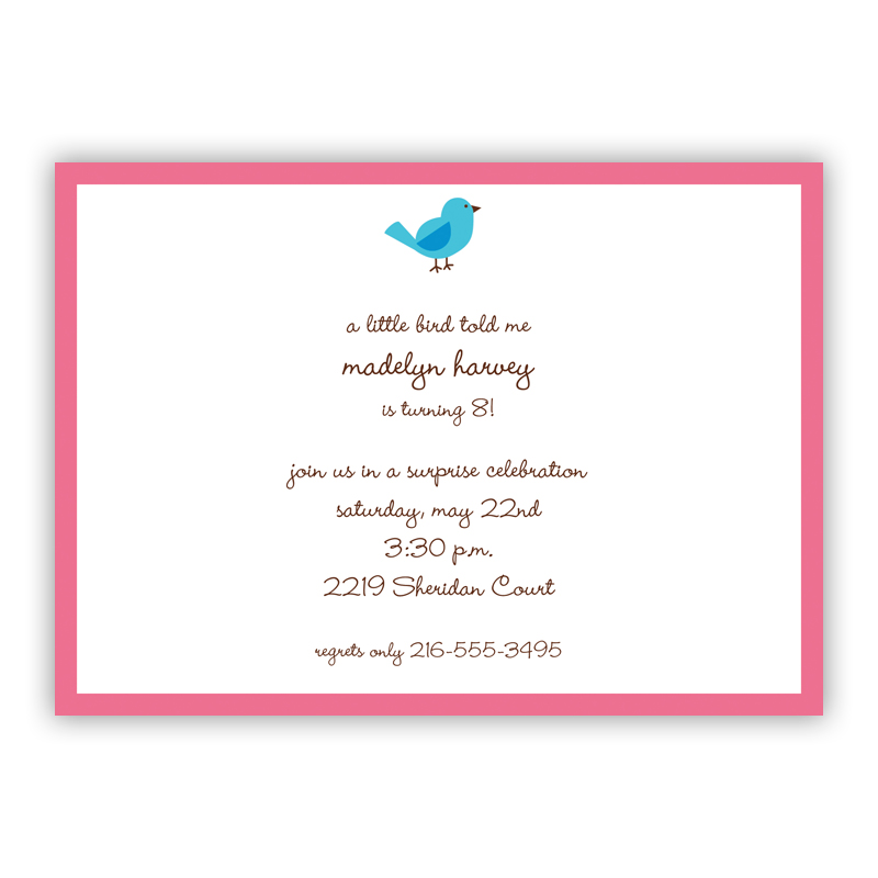 Birdie Invitation or Announcement, sets of 25
