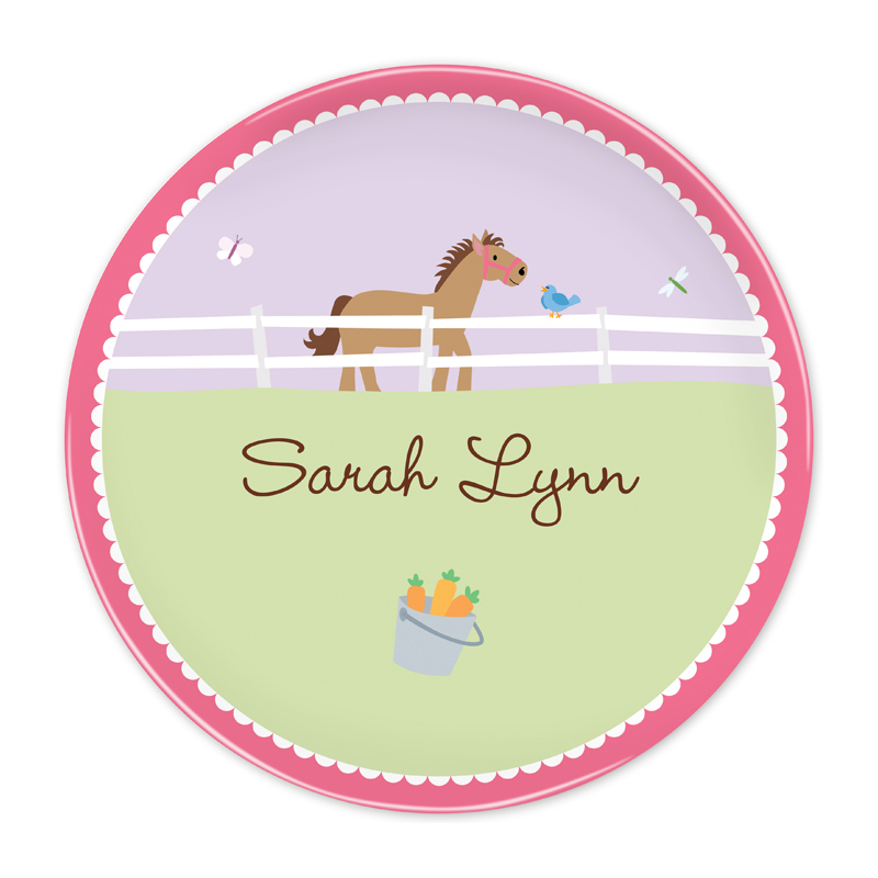 Personalized Horse 10 inch Plate