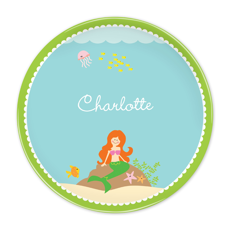 Personalized Mermaid, Customized 10 inch Plate
