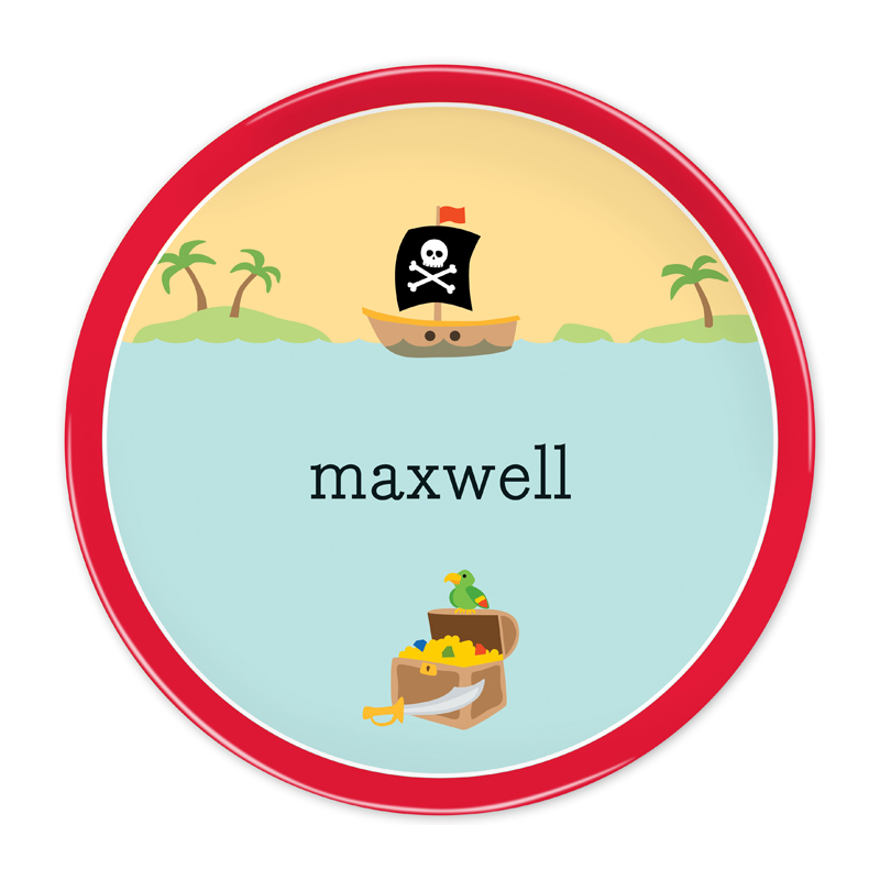Personalized Pirate 10 inch Plate