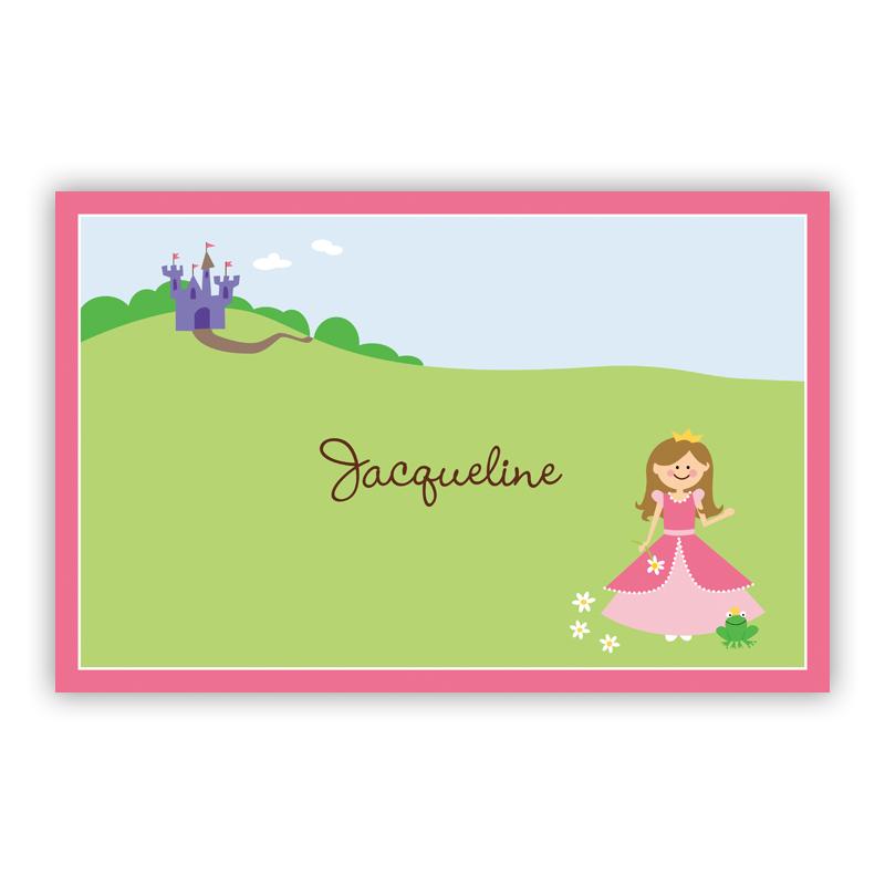 Princess Portrait, Customized Disposable Personalized Placemat, 25 sheet pad
