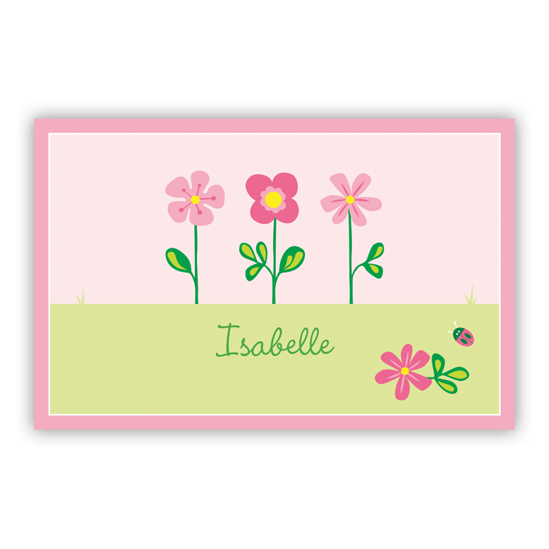Garden Disposable Personalized Placemat, 25 sheet pad