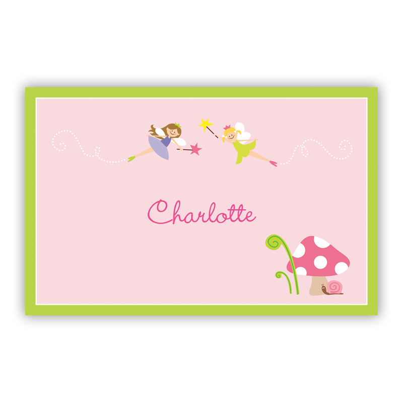 Fairy Portrait, Customized Disposable Personalized Placemat, 25 sheet pad