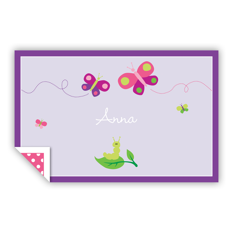 Butterfly Personalized Laminated Placemat