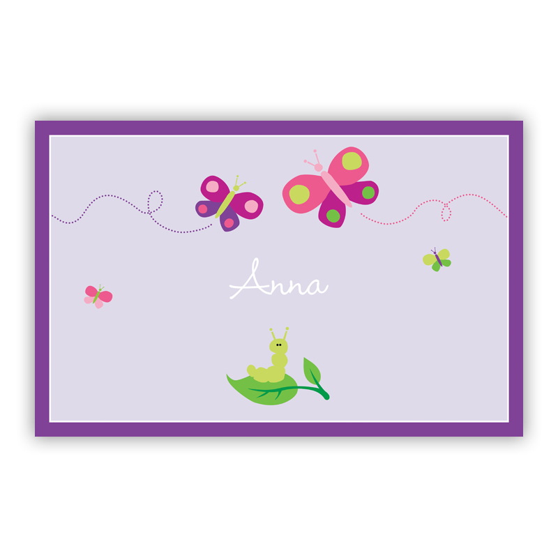 Butterfly Disposable Personalized Placemat, 25 sheet pad