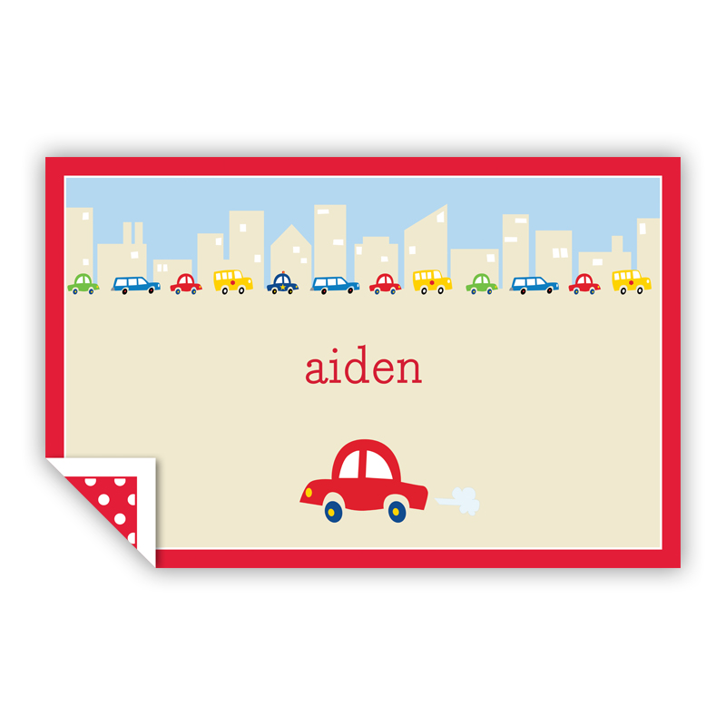 Cars Personalized Laminated Placemat