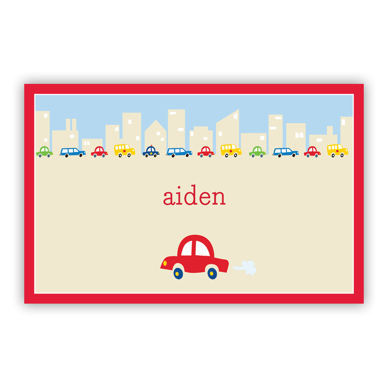 Cars Disposable Personalized Placemat, 25 sheet pad