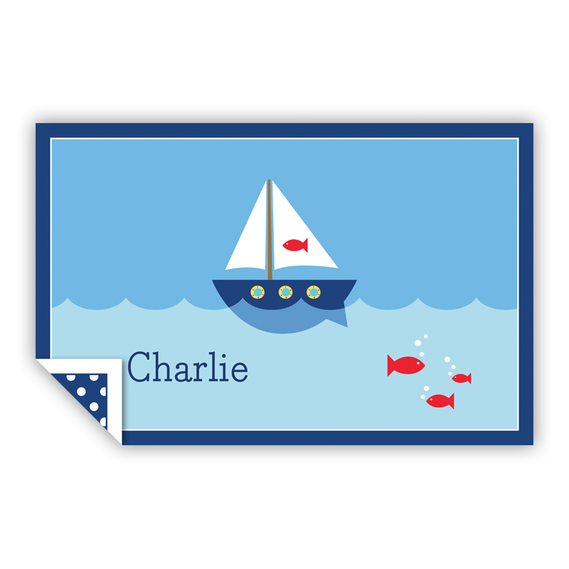Sailboat Personalized Laminated Placemat