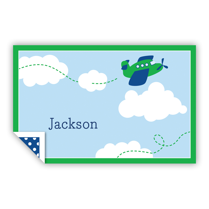 Airplane Personalized Laminated Placemat