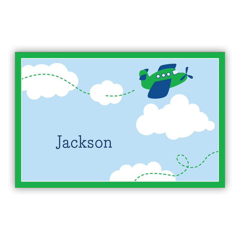 Airplane Disposable Personalized Placemat, 25 sheet pad
