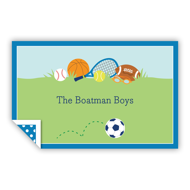 Sports Boy Personalized Laminated Placemat