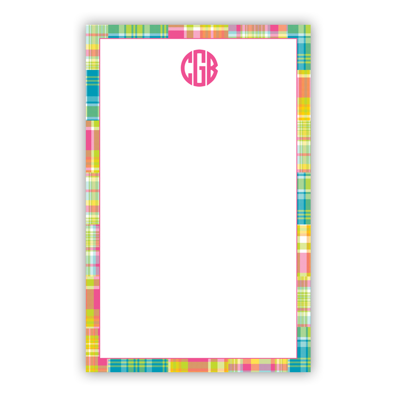 Personalized Madras Patch Bright Notepad (100 sheets)