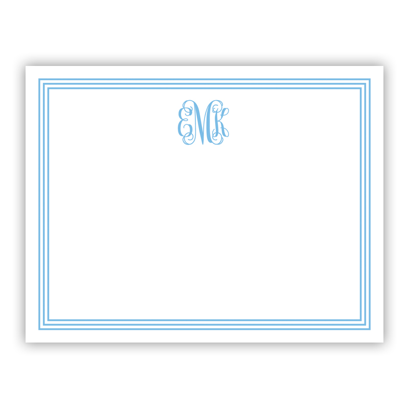 Grand Border Blue Small Flat Stationery Note