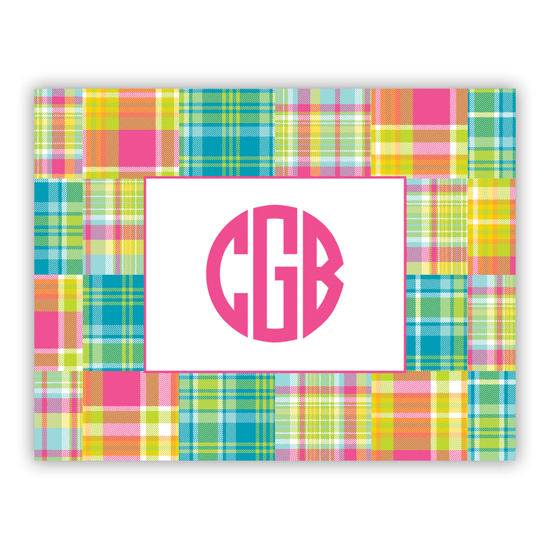 Madras Patch Bright Stationery, 25 Foldover Notecards