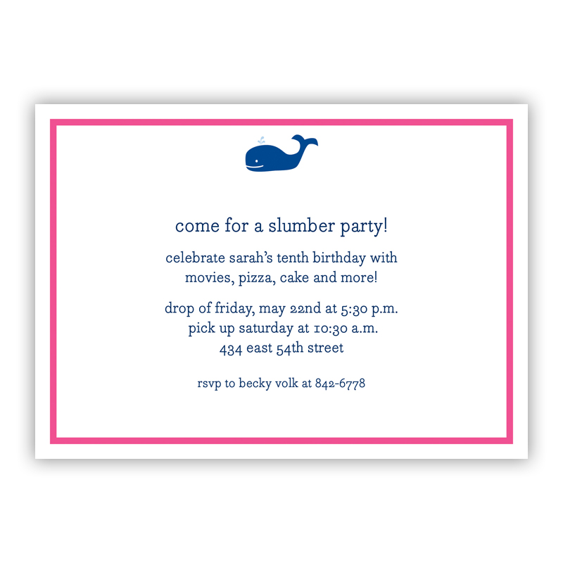 Whale Navy Invitation or Announcement, sets of 25