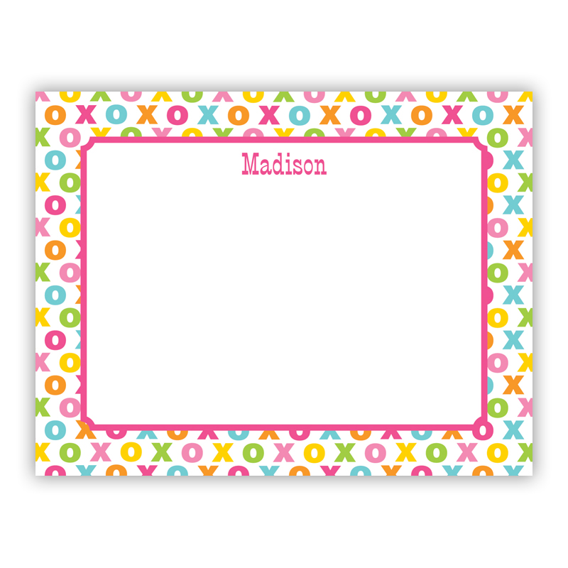 Hugs and Kisses Small Flat Stationery Note