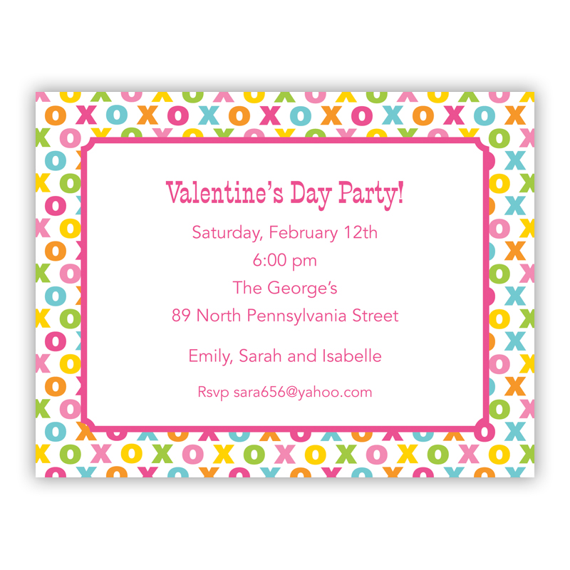 Hugs and Kisses Small Flat Invitation or Announcement